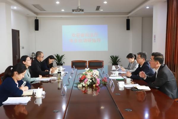 储厚冰主任到杭州市余杭区调研行政执法监督评议工作图片