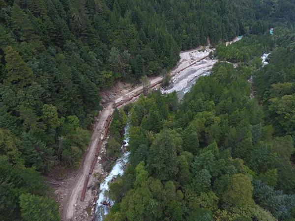 水電站項目建立現場,被疑損壞生態環境。