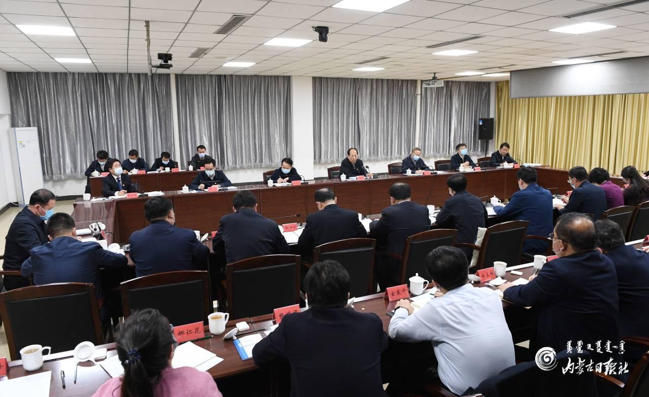 石泰峰参加指导库伦旗委常委会加强和改进民族工作专题民主生活会图片