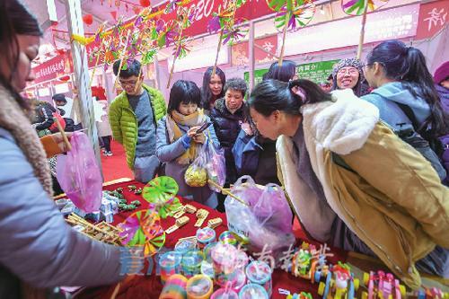 """民俗文化节年货受热捧快来泉城广场""""扫货""""吧"""