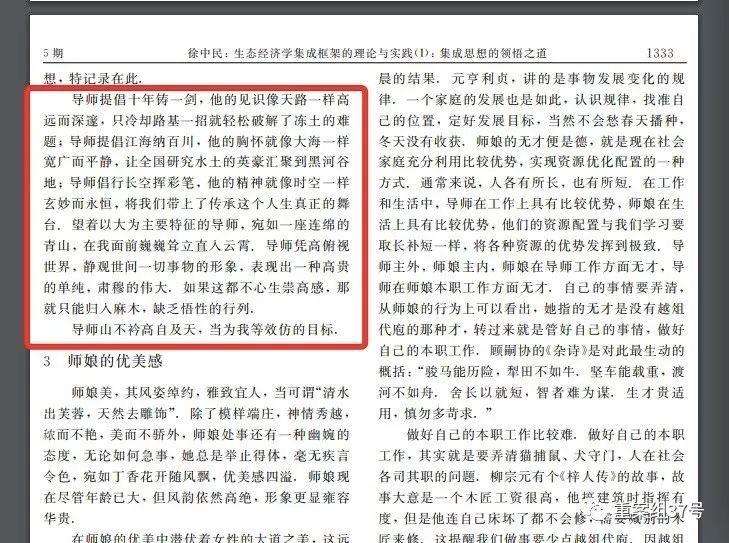 徐忠民对导师崇高感的论述总结。