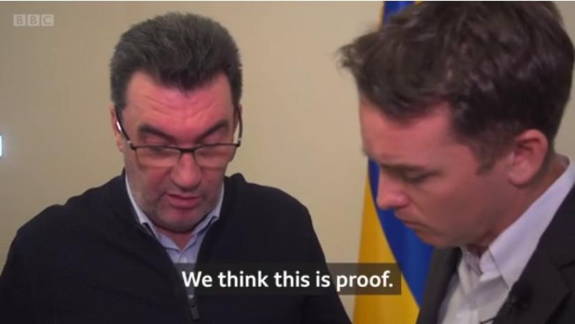 左为丹尼洛夫 视频截图
