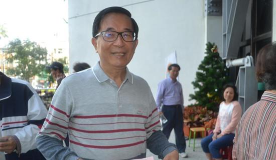 图为陈水扁1月11日出现在台南