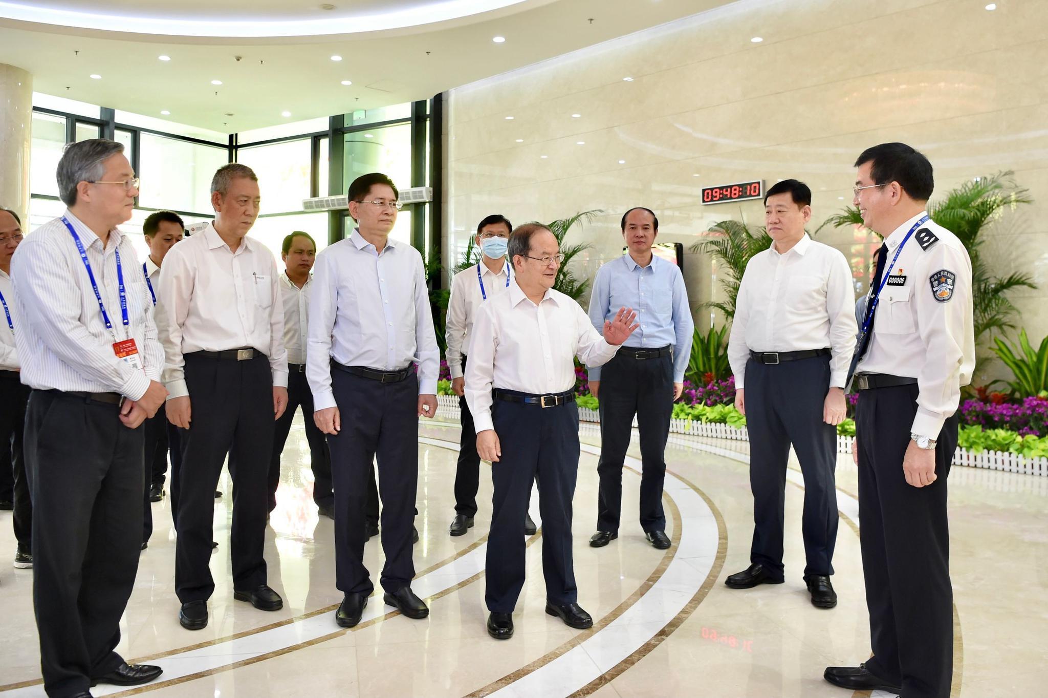 鹿心社蓝天立检查指导第17届中国-东盟博览会和图片