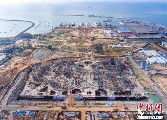 亚洲最大免税商城预计今年年底封顶,就在海口西海岸图片