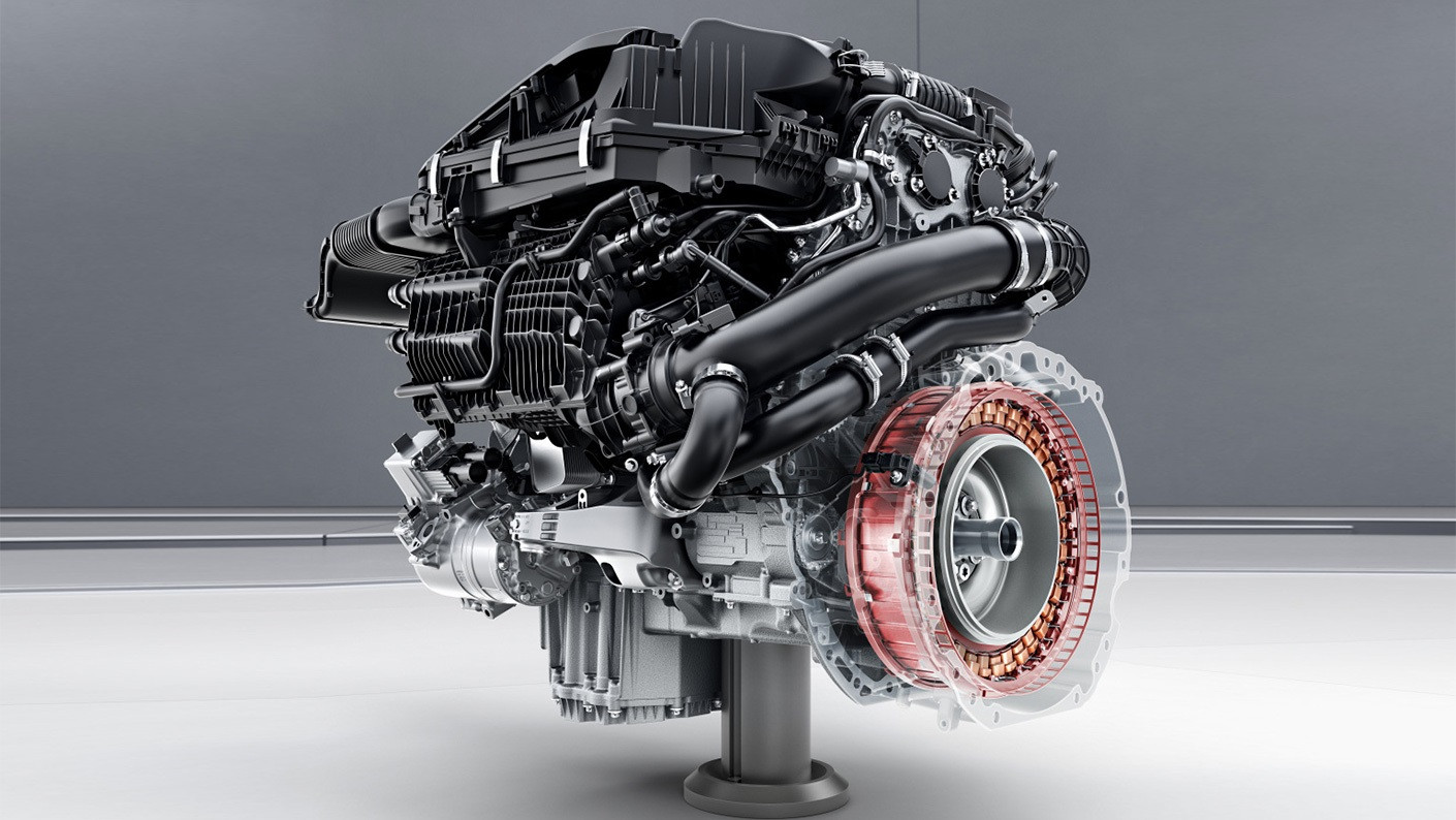 ▲上代迈巴赫S 450 4MATIC 的混动发动机 | 图片来自官网