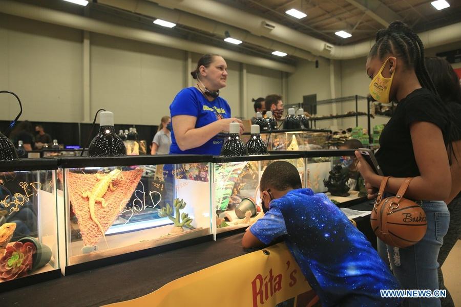 Exotic reptile & pet show held in Louisiana, U.S.