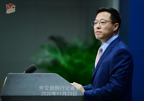 2020年11月23日外交部发言人赵立坚主持例行记者会图片