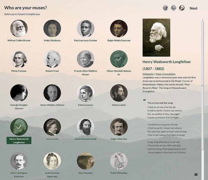 [图]谷歌推AI工具Verse by Verse:能写出知名诗人风格的诗歌