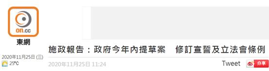 林郑月娥:港府今年内提草案,修订宣誓及立法会条例