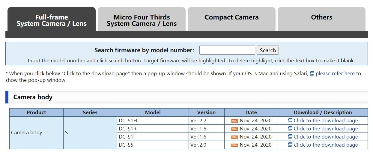 松下 LUMIX S5 更新固件:提升对焦性能、C4K 内录、可外录 5.9K RAW