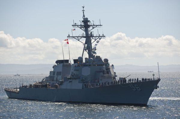 """美国海军""""约翰·麦凯恩""""号导弹驱逐舰。(美国""""任务与意志""""网站)"""