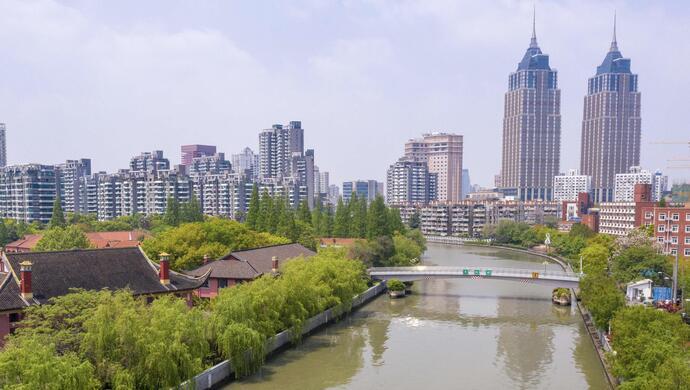"""沪""""一江一河""""进展:苏州河39公里岸线已通,最佳摄影点也有了,年底全贯通图片"""