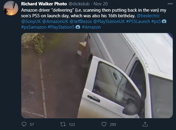 英国亚马逊送货司机偷走PS5主机 客户:我无言以对