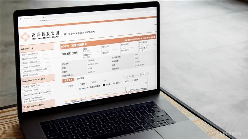 《公司业绩》万隆控股集团(00030.HK)半年纯利1,951.85万元跌15.6%