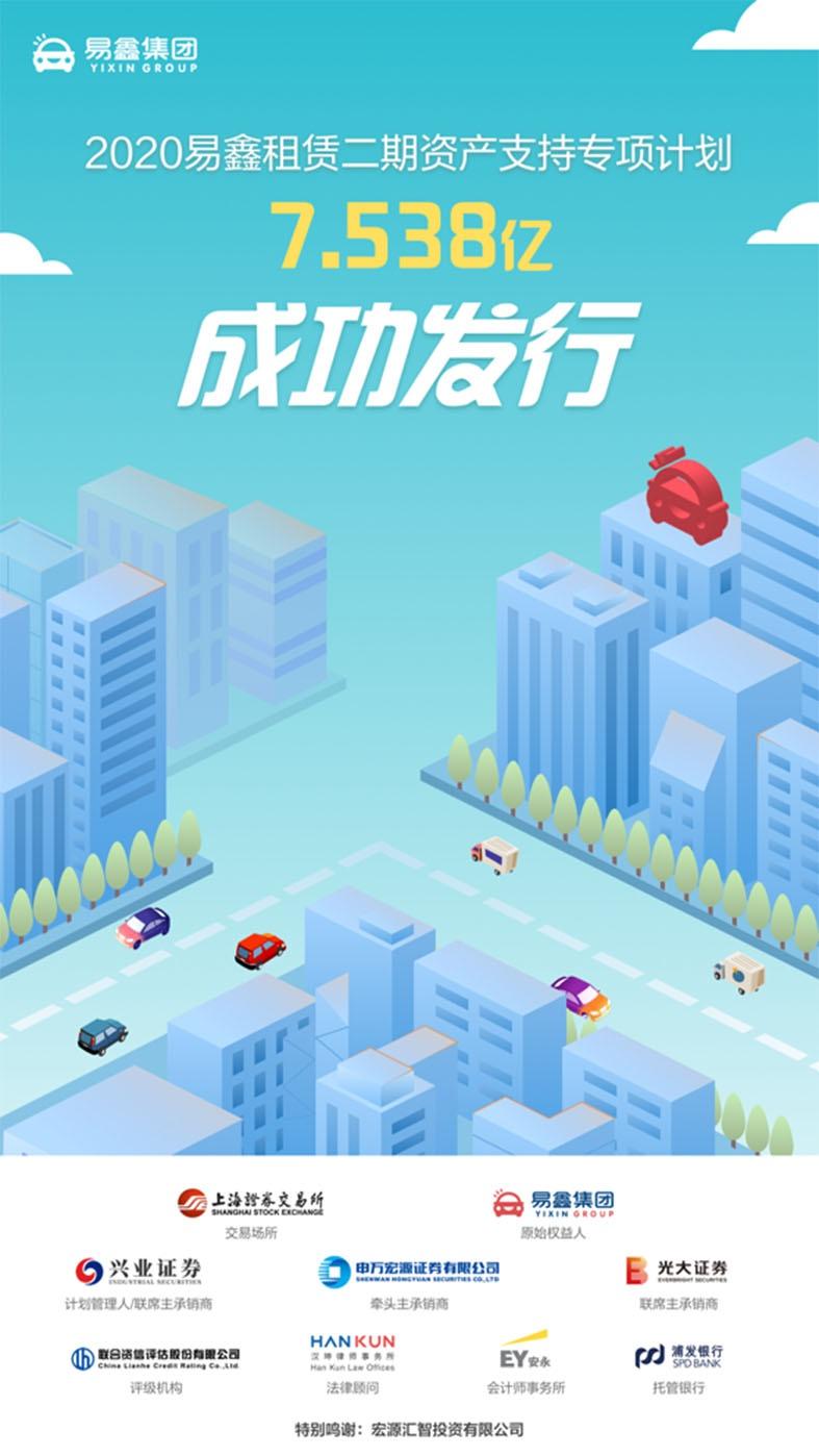 易鑫集团成功发行年内第三单资产证券化产品,规模超过7亿元