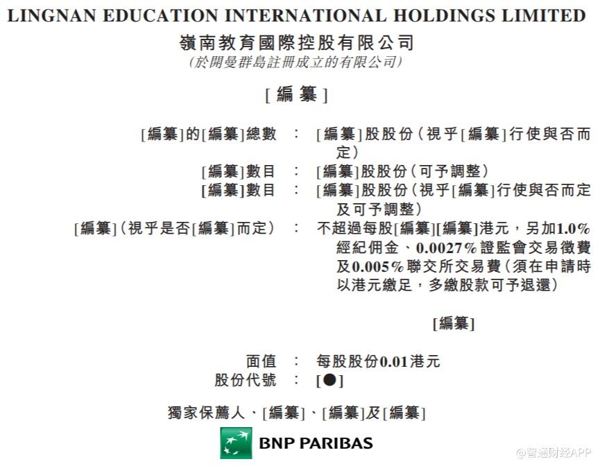 新股消息 | 岭南教育国际控股递表港交所主板,收益及溢利稳定增长