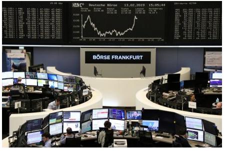 美股走高拉动欧洲股市收涨0.4%,连续第四个星期走高