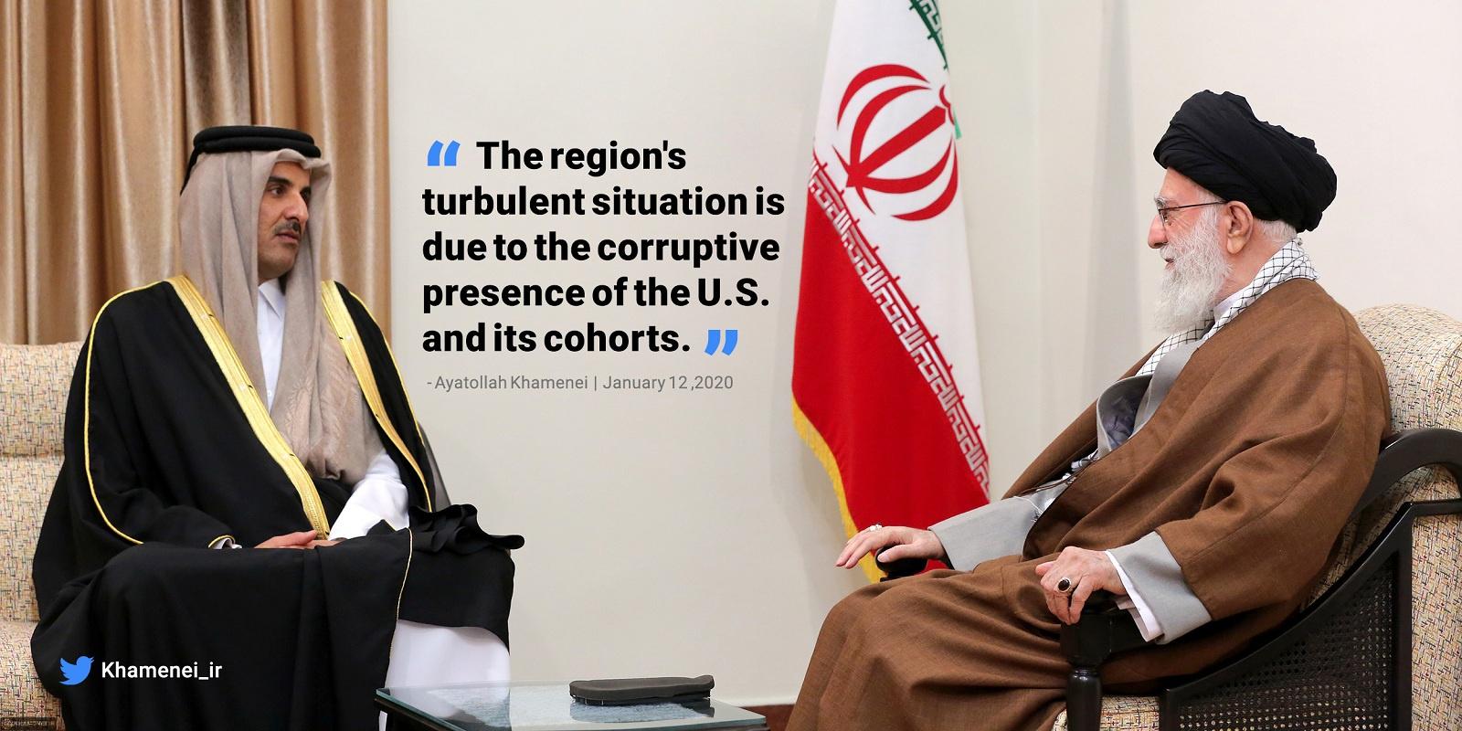 哈梅内伊:美国及其同伙是中东动荡原因