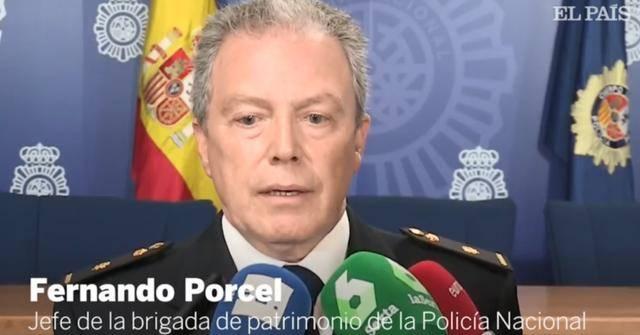 △西班牙警方接受《国家报》采访