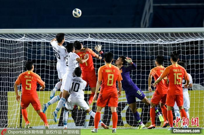 不敌乌兹别克斯坦国奥,中国国奥小组赛阶段两连败,宣告提前无缘东京奥运会。图片来源:Osports全体育图片社