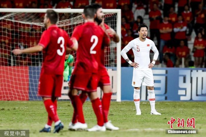 资料图:世预赛国足1:2不敌叙利亚。