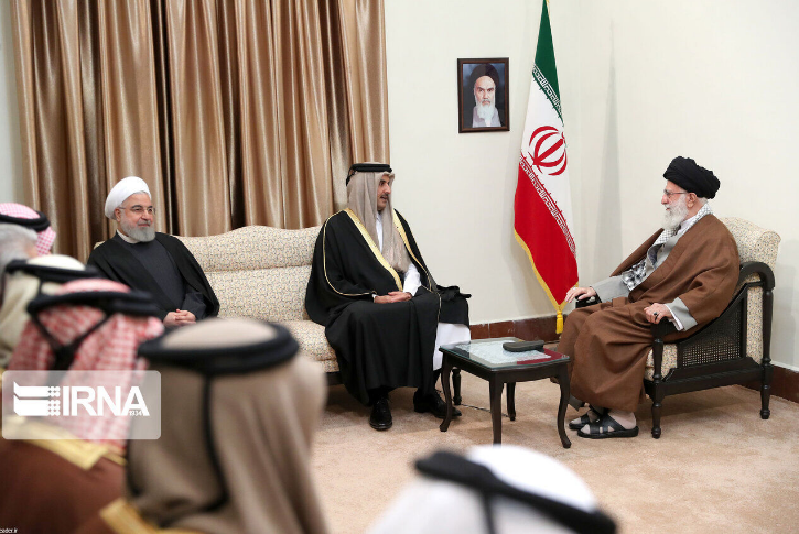 1月12日晚,伊朗最高领袖与卡塔尔埃米尔举行了会谈 图自IRNA