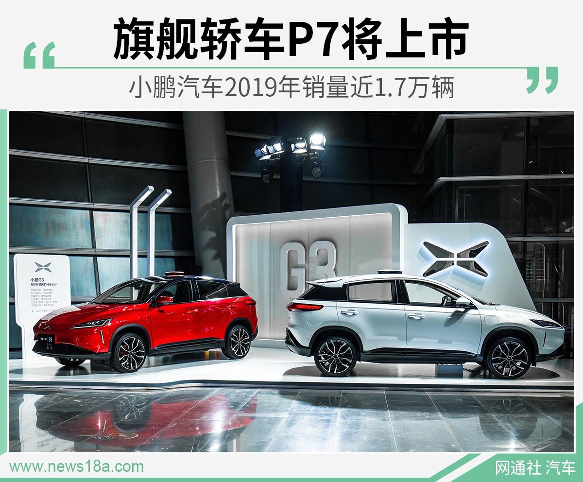 小鹏汽车2019年销量近1.7万辆 旗舰轿车P7将上市