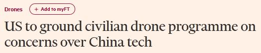 """停飞中国无人机?美政府官员先""""叫苦""""了图片"""