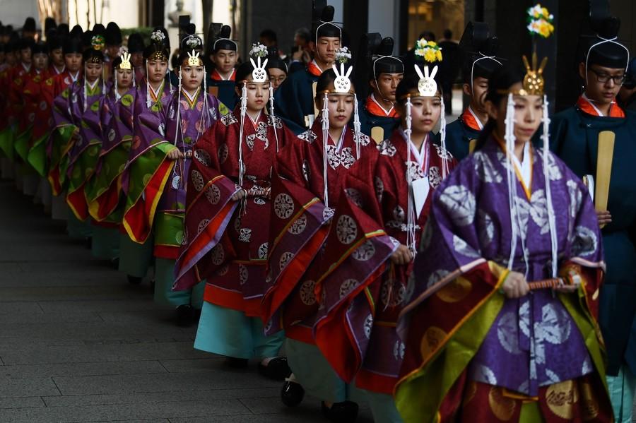 国学院举行的传统加冠礼(法新社)