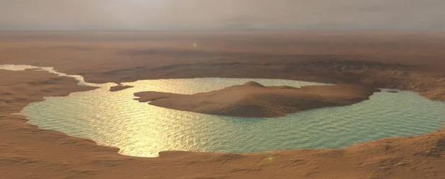 """""""好奇号""""在火星盖尔陨石坑发现古代大洪水痕迹"""