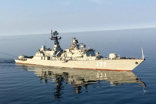 """波罗的海舰队""""智者雅罗斯拉夫""""号护卫舰将参加演习 图自:塔斯社"""