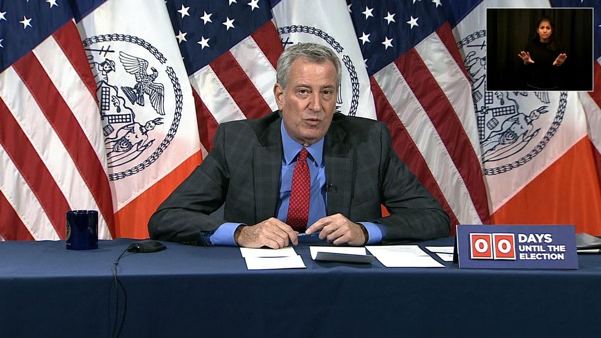 """纽约市长:新冠病毒感染数量""""令人担忧"""""""