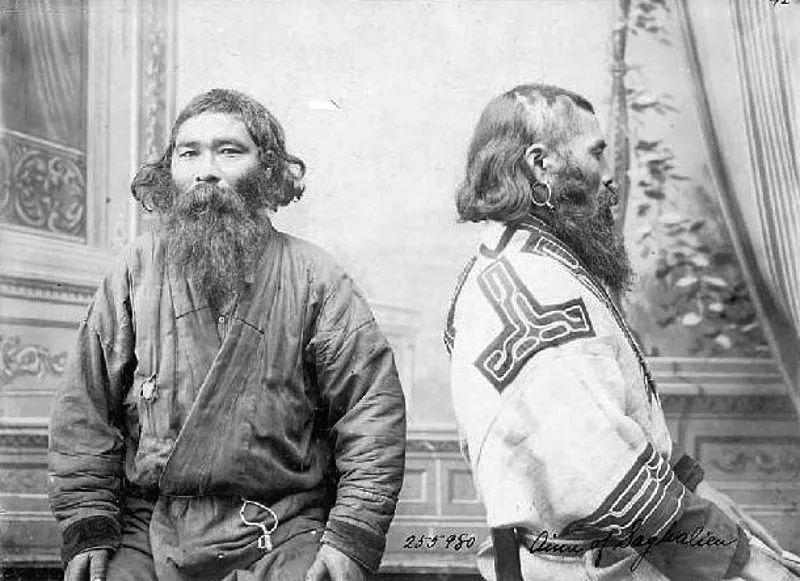 阿伊努人肖像照。/北海道阿伊努协会网站
