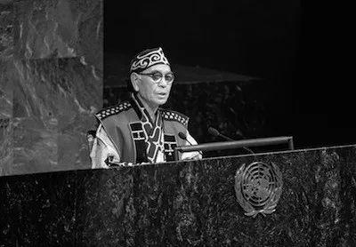 野村义一在联合国大会发言。/联合国网站