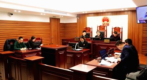 三中院公开审理辖区首例生态环境损害赔偿案图片