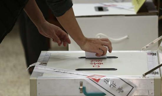 图为2020年台湾地区领导人选举投票点