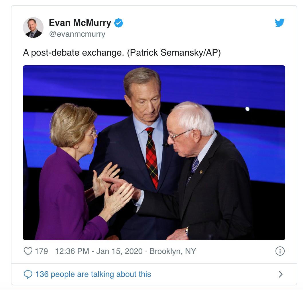 世界观|民主党大选年首辩,女性能否打败特朗普成焦点图片