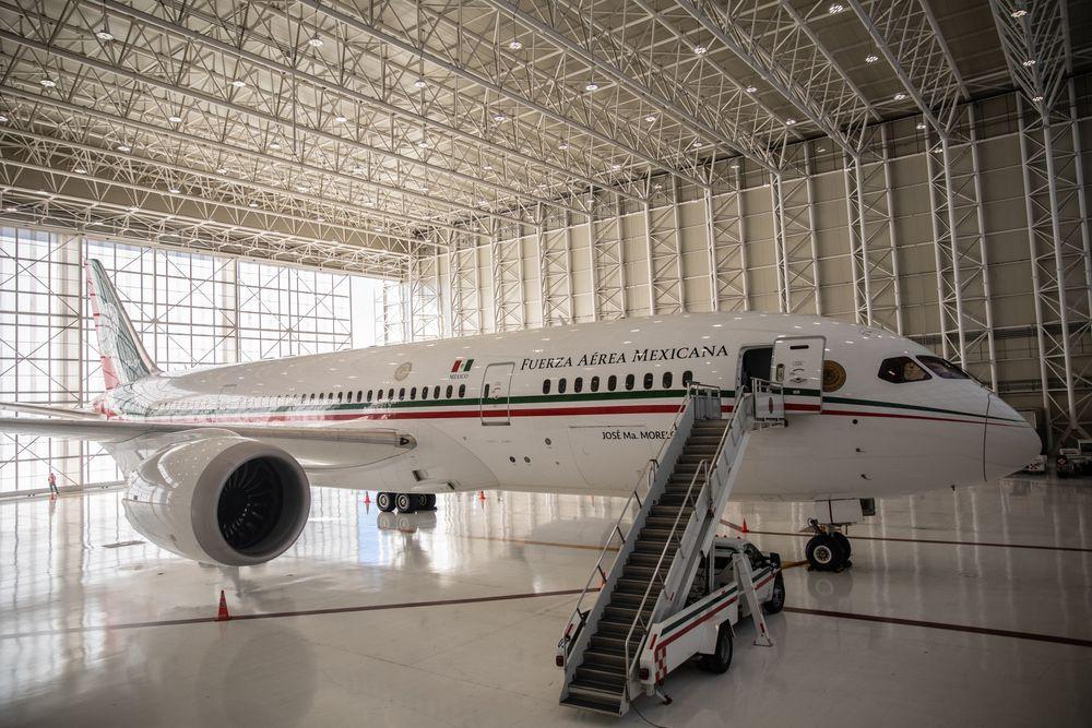 墨西哥总统专机 (图源:彭博社)