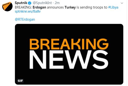 土耳其总统:安卡拉正在向利比亚派兵