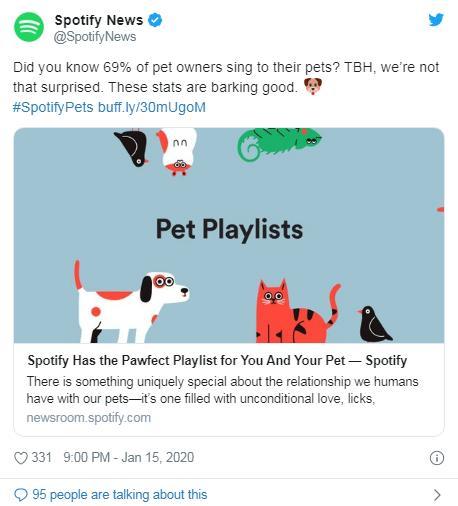 """暖心:音乐公司为宠物打造""""专属歌单"""" 以缓解孤独"""