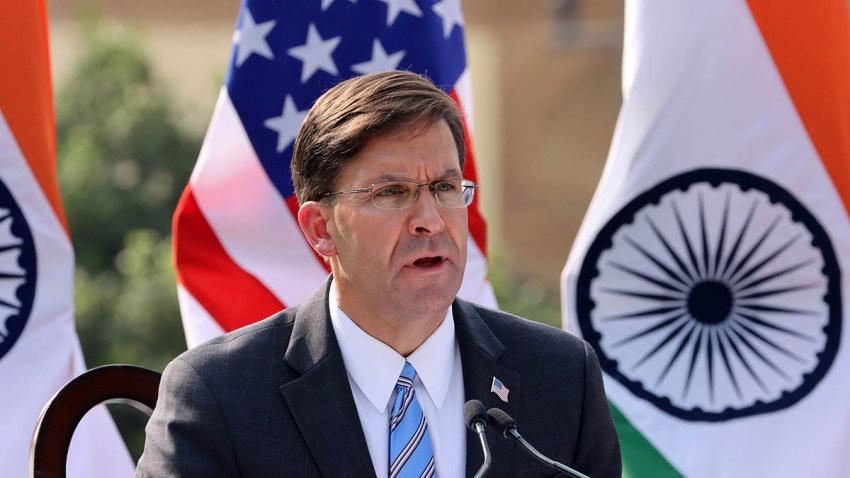 美国国防部长埃斯珀或将辞职