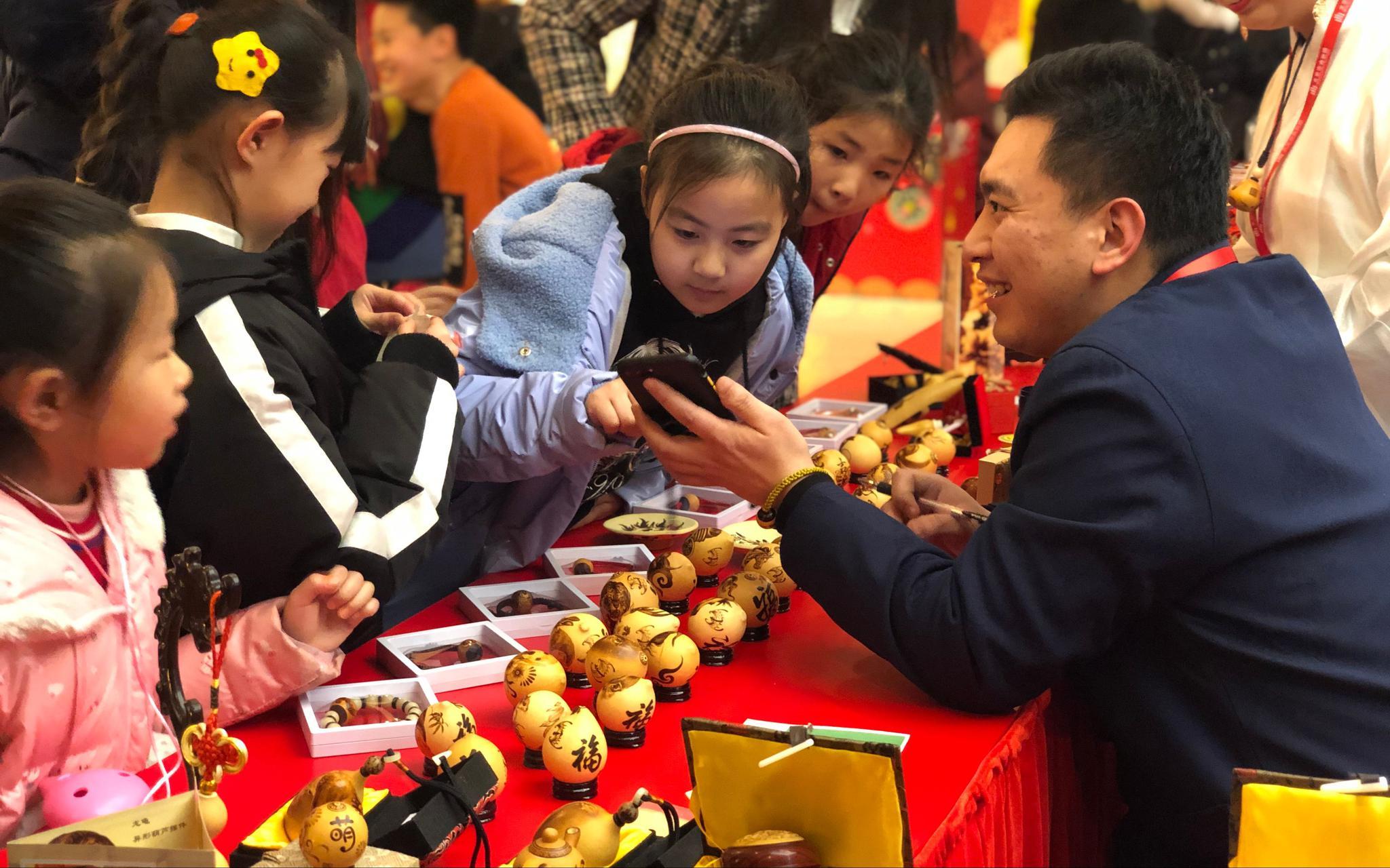 听北京的曲、过北京的年 第六届天桥小年文化庙会开幕图片
