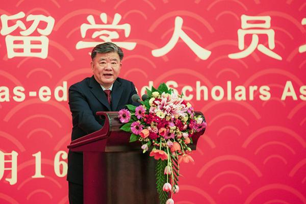 1月16日晚,欧美同学会在京举办2020年新春联谊会,陈竺致祝酒辞。本文图片 欧美同学会提供