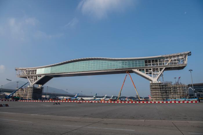 """欣赏停机坪理想地:香港机场""""天际走廊""""最快年中启用"""