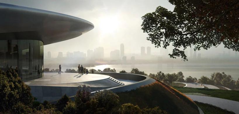 """扎哈·哈迪德事务所在中国成都第一座""""独角兽岛""""即将完工"""