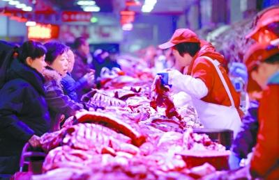 猪肉批发价降至每斤20.57元