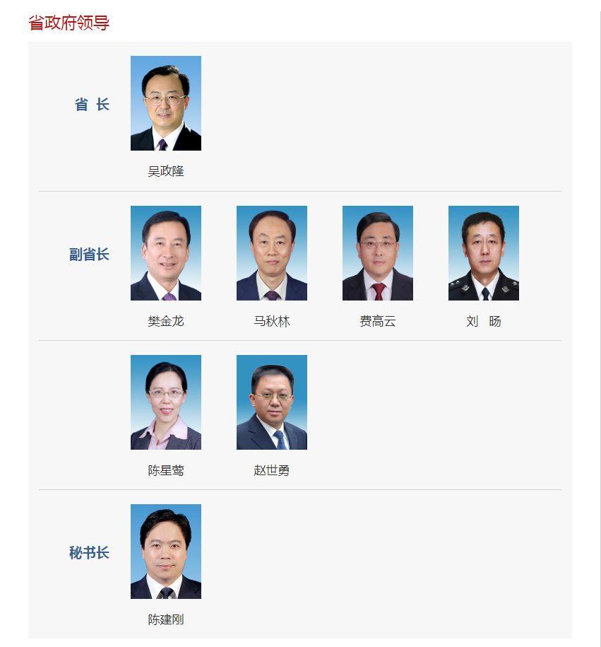 江苏省政府领导名单