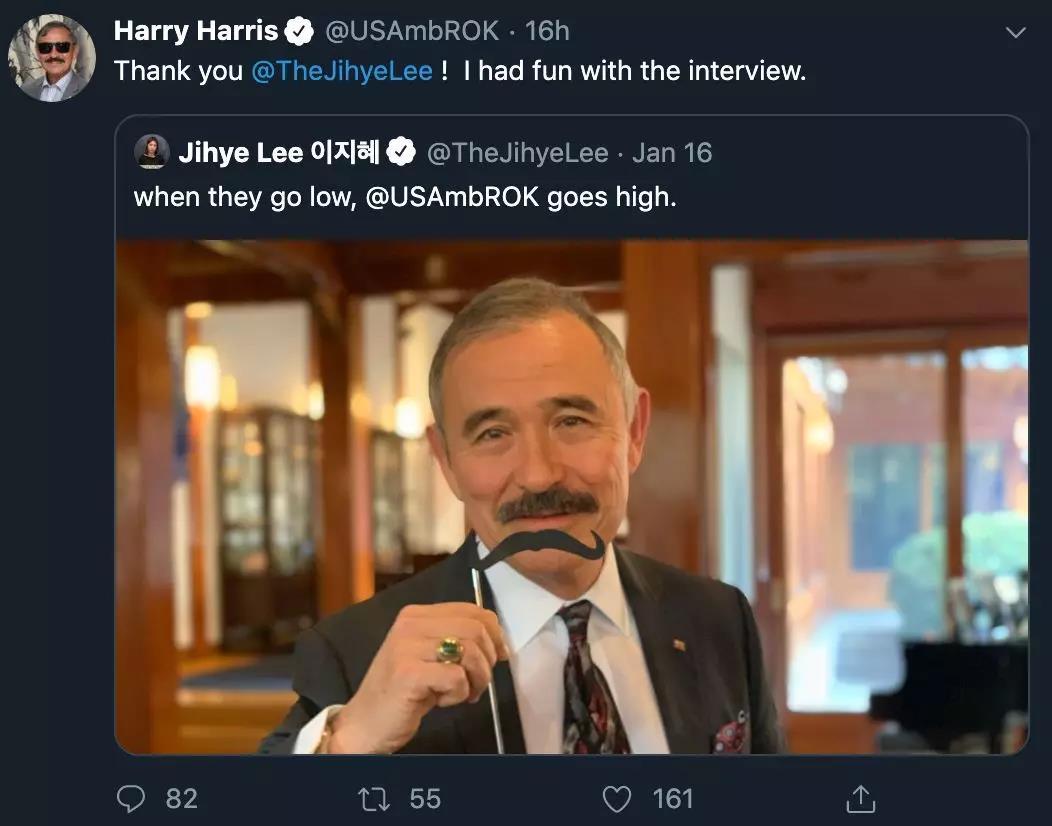 哈里斯推特截图。