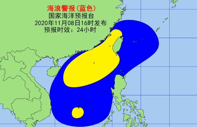 冷空气影响持续 台湾海峡南海海域将现大浪到巨浪区图片